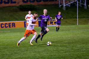 Syracuse's Hugo Delhommelle scored his first goal of the season on a penalty kick in SU's eventual 2-2 tie with Virginia.